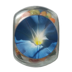Blue Morning Glory Glass Candy Jars at Zazzle