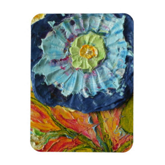 Blue Morning Glory Magnet