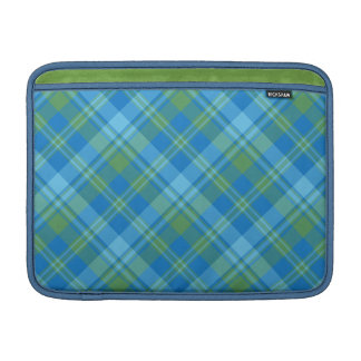 Blue Morning Glory Plaid MacBook Air Sleeve