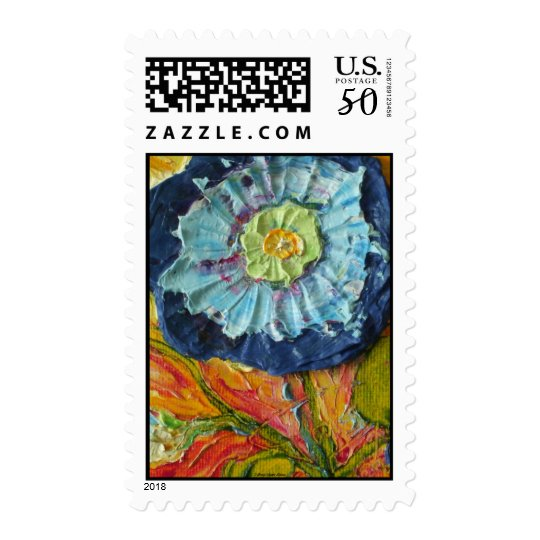 Blue Morning Glory Postage Stamps