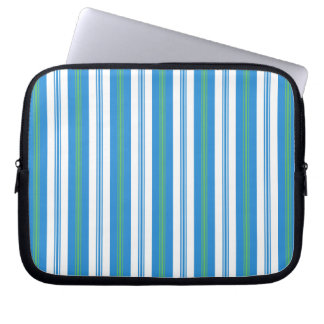 Blue Morning Glory Stripe Neoprene Laptop Sleeve