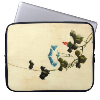 Blue Morning Glory Vine 1840 Laptop Computer Sleeves