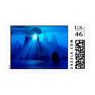 Blue Morning Stamps