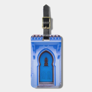 Blue Moroccan Door Luggage Tag