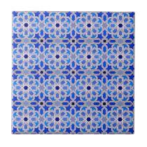 Blue Moroccan Geometric Pattern Tile