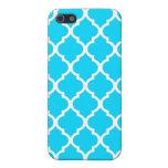 Blue Moroccan Quatrefoil Design Iphone 5 Case 1