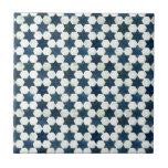 Blue Moroccan Star Pattern Ceramic Tile