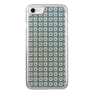 Blue Moroccan Symetry Pattern Carved iPhone 8/7 Case