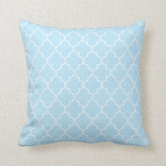 Blue Moroccan Trellis Pattern Pillow
