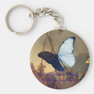 Blue Morphing Butterfly Keychain