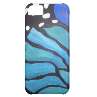 Blue morpho abstract butterfly painting iphone iPhone 5C cases