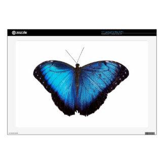 """Blue Morpho Butterflie 17"""" Laptop Skin"""