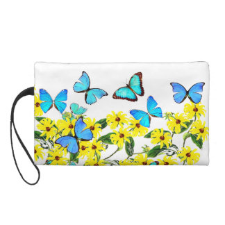 Blue Morpho Butterflies Flowers Accessory Bag