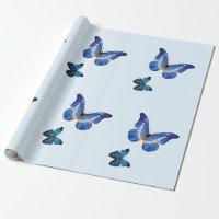 Blue Morpho Butterflies Gift Wrap