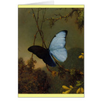 Blue Morpho Butterfly 1865 Spring Personalize Art Card
