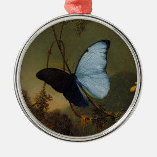 Blue Morpho Butterfly 1865 Spring Personalize Art Metal Ornament
