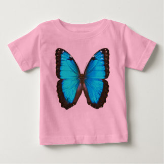 """Blue Morpho Butterfly"" Baby T-Shirt"