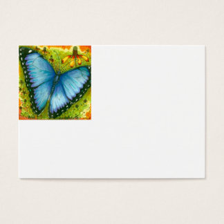 Blue Morpho Butterfly Business Card