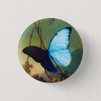Blue Morpho Butterfly Button