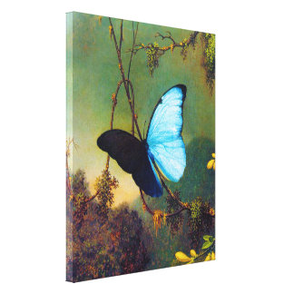 Blue Morpho Butterfly Gallery Wrapped Canvas