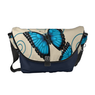 Blue Morpho Butterfly Courier Bag