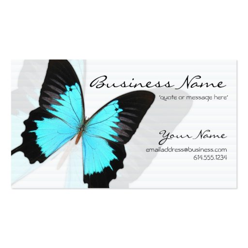 Blue Morpho Butterfly Design Business Cards