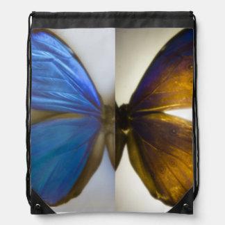 Blue Morpho Butterfly Drawstring Backpack