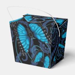 Blue Morpho Butterfly Favor Box