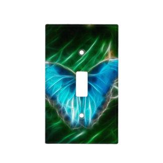 Blue Morpho Butterfly Fractal Light Switch Plate