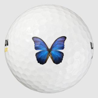 Blue Morpho Butterfly Golf Ball