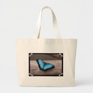 Blue Morpho Butterfly Large Tote Bag
