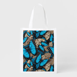 Blue Morpho Butterfly Madness Grocery Bag