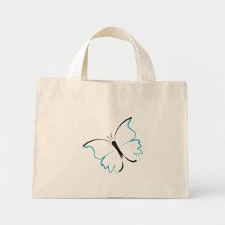 Blue Morpho Butterfly Mini Tote Bag