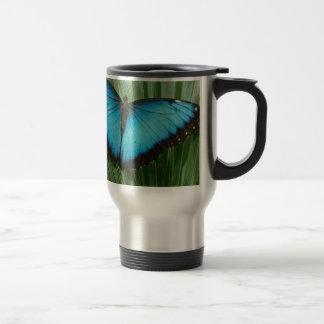 Blue Morpho Butterfly Stainless Steel Travel Mug