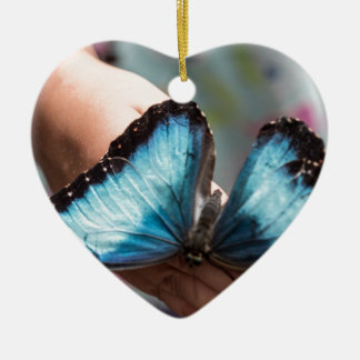 Blue Morpho Butterfly Christmas Tree Ornaments