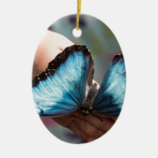 Blue Morpho Butterfly Christmas Tree Ornament