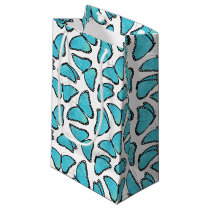 Blue Morpho Butterfly Pattern Small Gift Bag