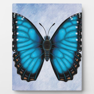 Blue Morpho Butterfly Plaque