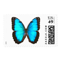 """Blue Morpho Butterfly"" Postage"
