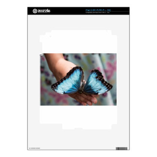 Blue Morpho Butterfly iPad 2 Decal