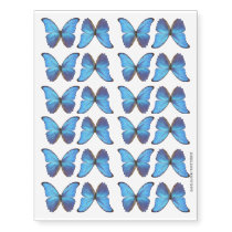 Blue Morpho Butterfly Small Temporary Tattoos