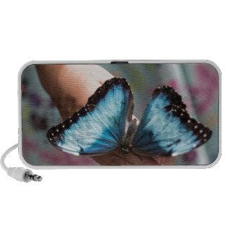 Blue Morpho Butterfly iPod Speakers
