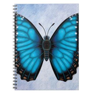 Blue Morpho Butterfly Spiral Notebook