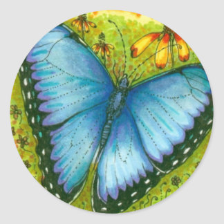 Blue Morpho Butterfly Stickers