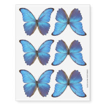 Blue Morpho Butterfly Temporary Tattoos