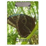 Blue Morpho Butterfly Tropical Nature Photography Clipboard