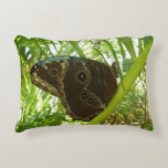 Blue Morpho Butterfly Tropical Nature Photography Decorative Pillow