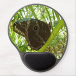 Blue Morpho Butterfly Tropical Nature Photography Gel Mouse Pad