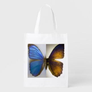 Blue Morpho Butterfly Wings Reusable Bag