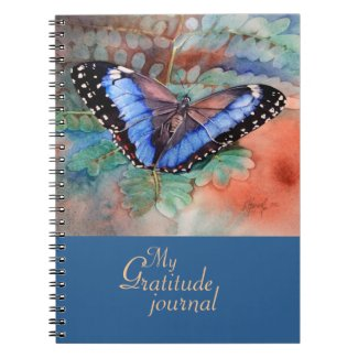 Blue Morpho Watercolor Gratitude Journal